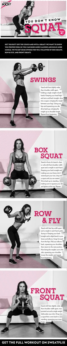 Follow SweatFlix Boost you don't know squat series to get a 5-day amazing butt workout! Exercise your way to a beautiful booty with BodyRock