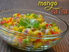 This is a great Mango Salsa recipe that is sure to impress. Mango, jalapenos, peppers, onions, limes & more, trust us this will have a good kick to it too!