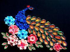 Ribbon (satin) peacock