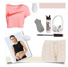 """""""gym outfit~"""" by itzcandyz ❤ liked on Polyvore featuring maurices, NIKE, ban.do, Laura Mercier, adidas, Fabletics and M&Co"""