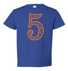 5th Birthday tshirt boys girls fifth Number 5 by FreshFrogTees, $12.95