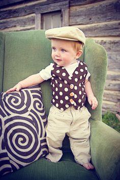 Summer Garden Boy's Vest  2 Styles by ohsewpreciousdesigns on Etsy, $18.00