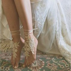 "@myweddingconcierge's photo: ""Do you love these barefoot sandals? The rest of the bare feet boho wedding is equally amazing @weddingchicks #boho #bohemian #bridal #fashion #love #weddings #inspiration #laceonlace #myweddingconcierge"""