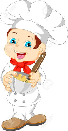 Illustration of cute boy chef cartoon vector art, clipart and stock vectors. Diy Crafts To Do, Crafts For Kids, Funny Emoji Faces, Sunshine Birthday, Instagram Frame, Le Chef, Drawing For Kids, Kids Education, Cartoon Drawings