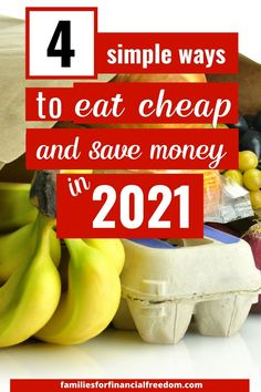 Get 4 simple tips to make cheap meals. Save money on groceries! These are great ideas for a cheap groceries list. Learn cheap food ideas to slash your groceries budget. These are great cheap food ideas to make easy, cheap meals! #cheapfood #cheapmeals #cheapmealsonabudget #cheapmealsprep #cheapdinners #savemoney #savemoneyongroceries #savemoneyonfood #budgeting #savingmoney Cheap Meals For 5, Cheap Food, Cheap Recipes, Cheap Dinners, Easy Family Meals, Frugal Meals, Budget Meals, Quick Easy Meals, Easy Dinner Recipes