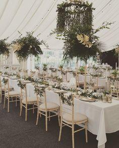 Botanical styling with stunning Gold details at Middleton Lodge www.weddingandevents.co.uk