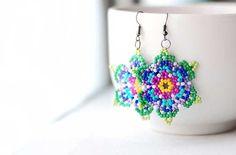 Beaded Huichol earrings | Paint + Pattern