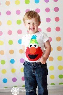Elmo Birthday Shirt {www.ffaprincess.com}