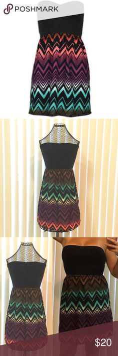 """Roxy """"Savage"""" Tube Top Dress EUC. Only worn once. Very cute and comfortable. Great with sandals for summer or dressed up for a night out.  Mini length but not crazy short (I'm 5'6"""")  ⭐️First image is stock image for reference only. Color placement/pattern is as shown in images 2,3,4.⭐️ Roxy Dresses Mini"""
