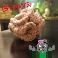 Ok I'm really super excited over these BRAINS!!! I'm in love!  #Handmade #QtsyLife #Crochet #Crocheting #Crocheted #MakersGonnaMake #MakersMovement #KidsToys #Kids #Gifts #BirthdayGifts #MomLife #Mompreneur #CreepyCute #BRAINS #Zombie #Zombies #Creepy #Cute #Scary #HalloweenAllYear #Boo