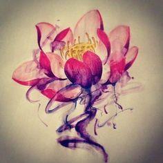 red lotus flower tattoos - Google Search