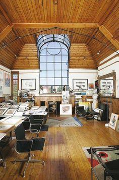 Alan Day's studio room at St Paul's Studios, Talgarth Road, Barons Court, London.
