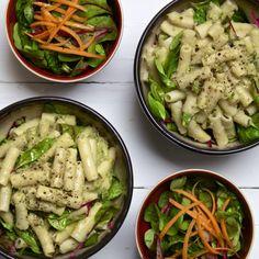 Creamy Anti-inflammatory Artichoke Pasta w/Antihistamine Herbs (Gluten & Dairy F. - Creamy Anti-inflammatory Artichoke Pasta w/Antihistamine Herbs (Gluten & Dairy Free) Raw Food Recipes, Healthy Dinner Recipes, Pasta Recipes, Diet Recipes, Healthy Snacks, Healthy Eating, Cooking Recipes, Vegan Meals, Cooking Ideas