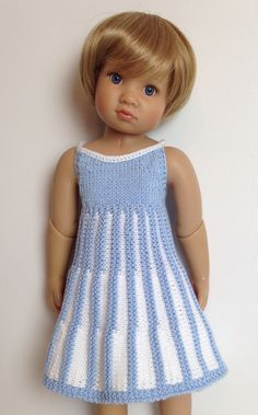 Strappy Summer dress Knitting pattern fits 18 inch doll slim to full body (2 sizes in one pattern) (#060) by KNITnPLAY on Etsy https://www.etsy.com/listing/240814059/strappy-summer-dress-knitting-pattern