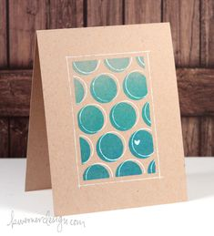 kristina Werner Blended Stenciling + Offset Pen – Make a Card Monday #253