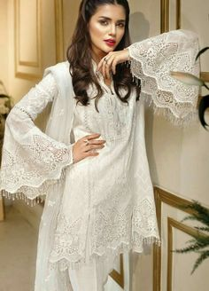 Anaya Luxury Chiffon Collection With Fully Embroidered Dupatta (Replica)(Unstitched) Formal Dresses Long Elegant, Formal Dresses For Weddings, Dresses For Teens, Simple Dresses, Nice Dresses, Formal Wedding, Wedding Ideas, Simple Dress Pattern, Womens Dress Suits