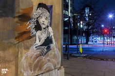 Latest London Banksy stencil work painted opposite the French Embassy in London and titled 'Les Miserables' — January London 2016
