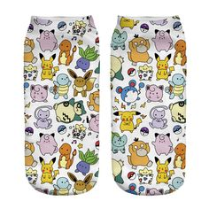 2016 New Arrival Kawaii Harajuku Pokemon Pikachu Socks Printed Cartoon Women's Low Cut Ankle Socks Novelty Casual Socks Meias Funny Socks, Cute Socks, Silly Socks, Pikachu Mignon, Pokemon Pocket, Pokemon Full, Harajuku, Aqua, Funny Tattoos