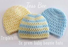 Premature Baby Hats 3 NICU Hats Triplets Hats Tiny Baby | Etsy Preemie Babies, Premature Baby, Twin Babies, Baby Boy Beanies, Baby Hats, Triplet Babies, Third Baby, Newborn Baby Gifts, Nicu
