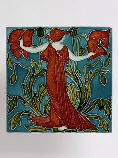Flora's Train        Object:        Tile panel      Place of origin:        Clifton Junction, England (made)      Date:        1900-1901 (made)      1900-1901 (designed)      Artist/Maker:        Crane, Walter (R.W.S.), born 1845 - died 1915 (designer)      Pilkington's Tile and Pottery Company (manufacturer)      Materials and Techniques:        Earthenware, with relief decoration, painted with coloured glazes      Credit Line:        Given by Pilkington's Tile and Pottery Co.      Museum…