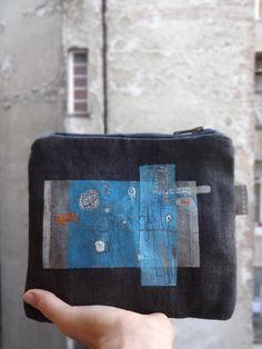 Canvas Clutch Urban Glam Geometric Clutch Bag Hand by koatye1