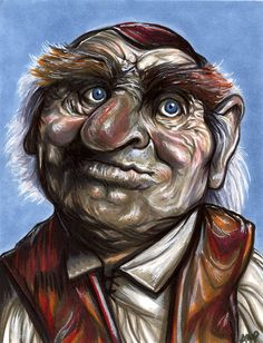Hoggle 5 x 7 by AshleighPopplewell on DeviantArt Jim Henson Labyrinth, Labyrinth 1986, Labyrinth Tattoo, Artist And Craftsman, Fantasy Movies, Drawing Tools, Monster, Character Description, White Ink