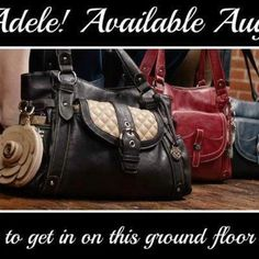Scentsy Family 's NEW Grace Adele Bags! Available August 1st! Be the 1st to join my team or HOST a party to receive a bag 1/2 price! Contact me MarthalMurray@sbcglobal.net