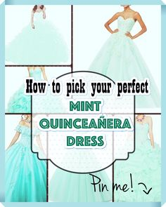 Mint Quinceanera dress searching can be one of the best and worst portions of event planning. to be able to keep your sanity under control, have a look at our tips, including style, size. Mint Quinceanera Dresses, Young Female, Your Perfect, Different Patterns, Dress Making, Event Planning, Girl Birthday, Most Beautiful, Dress Up