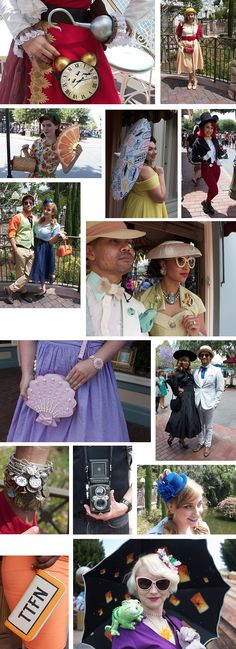 Street Style: Spring 2016 Dapper Day at Disneyland - love how people are Disneybounding with Dapper Day style!