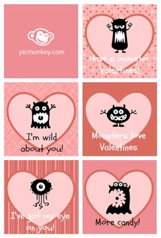 Make your own valentines for your kids with PicMonkey. Create a sheet of cards using the swatches in Collage. Then add some Heart and Critters overlays in the Editor.