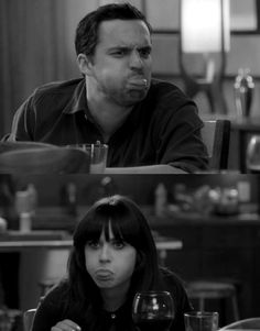 new girl. why do i get the feeling that this will be me with my love.. hahaha.