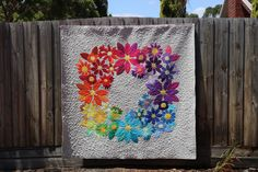 Hello, I am Carolyn from Free Bird Quilting Designs and this is the second quilt I have been lucky enough to make for the 'what shade are you' blog hop! My 'what shade are you' hasn't changed, it stills every colour of the rainbow and what a rainbow it is with the cotton supreme solids! …