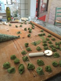Cooking Class in Umbria, Italy during Lenora's Italy Retreat For Women to live la dolce vita.  Spinach Tortellini.