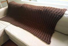 Handknit chunky ribbed machine washable blanket by KnotDoppler