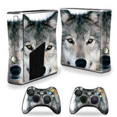 Protective Vinyl Skin Decal Cover for Microsoft Xbox 360 S Slim + 2 Controller Skins Sticker Skins Wolf $14.99 Your #1 Source for Video Games, Consoles & Accessories! Multicitygames.com