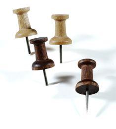 Wood push pins!