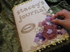 My first junk journal. - YouTube