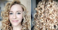 To have beautiful curls in good shape, your hair must be well hydrated to keep all their punch. You want to know the implacable theorem and the secret of the gods: Naturally curly hair is necessarily very well hydrated. Wavy Hair Care, Blonde Curly Hair, Curly Hair Tips, Style Curly Hair, Products For Curly Hair, Frizzy Wavy Hair, Thin Wavy Hair, Curled Hairstyles, Pretty Hairstyles