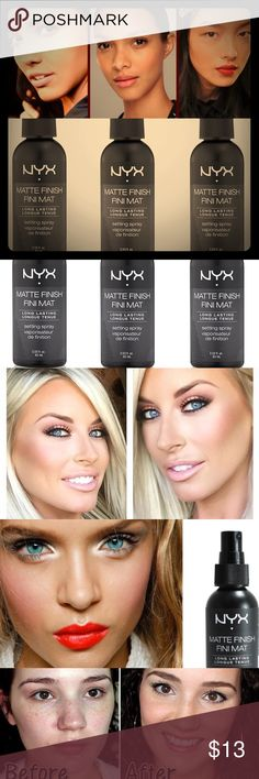 🔅NEW NYX Matte Finishing Spray🔅W/GIFTS!😍🎁💕 🔅BRAND NEW & UNOPENED🔅NYX BEAUTY SUPPLIES & COSMETICS🔅*NEW* MATTE FINISHING SPRAY🔅SOLD OUT ONLINE & IN MOST STORES🔅Demand perfection! For that fresh make up look that LASTS! The NEW NYX setting spray is a gorgeous shine free matte finish thats BOTH lightweight AND comfortable while working hard to make sure ur make up stays put!!🔅INCLUDES SUPER CUTE FREE GIFTS🔅EXPEDITED SHIPPING🔅BUNDLE UR FAV 3 ITEMS FOR AN *ADDITIONAL* 15% OFF OR AN…