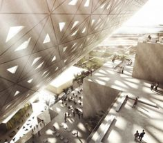 The architectural group Bjarke Ingels revealed its competition proposal for a large building in which will sit Middle East medias. Consisting of two cubic towers, the conceived 650,000 square meters has been designed to encourage communication between the various occupants of the building.