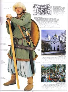 Viking Rus warrior. The 'Rus' nordic people are what Russia is named after!