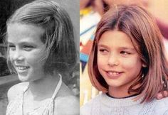 Grace Kelly (later Princess Grace of Monaco) and her granddaughter Charlotte Casiraghi (daughter of Princess Caroline) at the same age