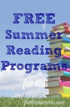 Free Summer Reading Programs for Kids 2014