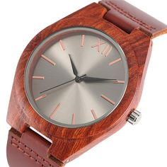 Wooden Quartz Watch For Men.