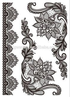 Black Henna Temporary Tattoo Arm Lotus Flower Back Henna Black Lace Tattoo Kit Tattoo Uk, Tattoo Kits, Dot Work Tattoo, Arm Tattoo, Dragonfly Tattoo, Mandala Tattoo, Lace Tattoo Design, Tattoo Designs, Fleurs Art Nouveau