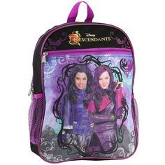 "Size 15"" Tall Made From 100% Polyester Label Disney Descendants Officially Licensed Disney Descendants Backpack"