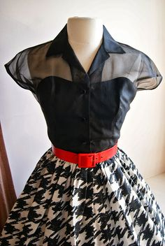 Black, white and red make the most classy color combination!  Courtesy of Xtabay Vintage Clothing Boutique - Portland, Oregon