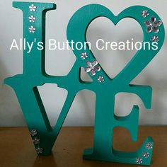 Gorgeous Teal and silver LOVE