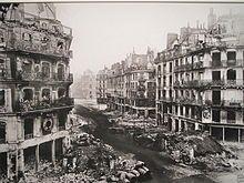 View of the Rue de Rivoli after Bloody Week.