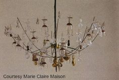 umbrella chandelier. a good umbrella sacrificed itself so you could be this cool. (aw. I'm just ribbin' ya.)